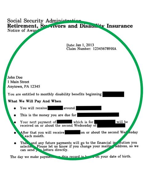 Social Security Award Letter Crna Cover Letter Social Security Award Letter Template