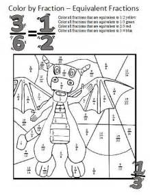 equivalent fractions worksheets these coloring sheets