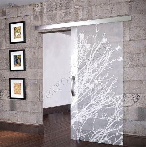 porte con vetro satinato porta scorrevole ad un anta in vetro satinato con decoro