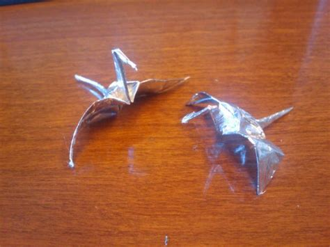 Gum Wrapper Origami Crane - another 1 000 cranes but with a twist craftgrrl