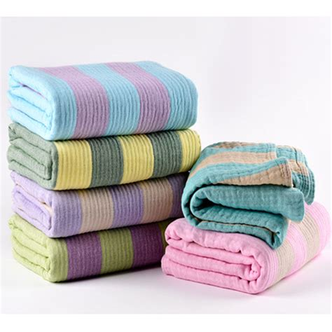 Blanket Throw For Sofa by Sporty Stripe 100 Cotton Blankets Throws Home