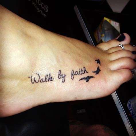 foot cross tattoo walk by faith foot tattoos creativefan