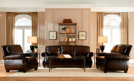 living room set deals 3 piece leather living room set groupon