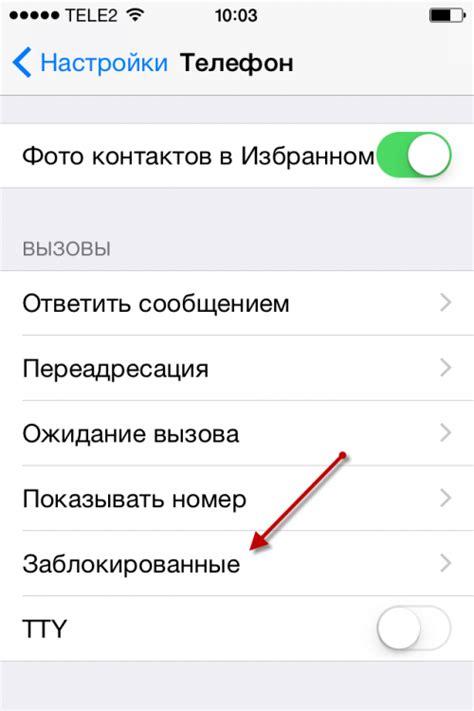 Черный список на iphone приложения