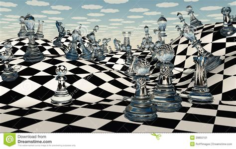 Landscape Pieces Chess Stock Image Image 29855101