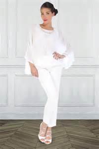 pantalon habillã femme pour mariage pantalon en satin blanc du 36 au 44