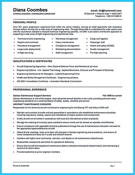 Maintenance Technician Resume Sample by Convincing Design And Layout For Aircraft Mechanic Resume