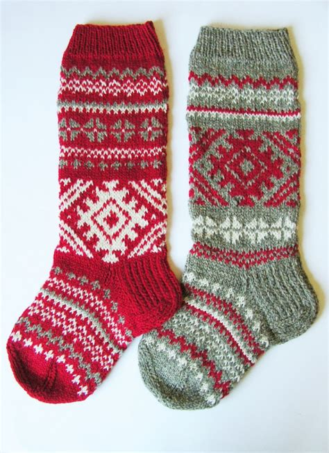 christmas stocking hand knit wool folksy by knittingswithsense