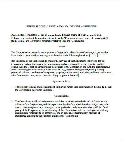 business management contract template 16 business contract templates free sle exle format free premium templates