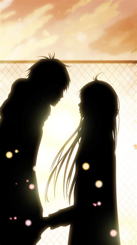 wallpaper couple for mobile sweet couple silhouettes wallpaper