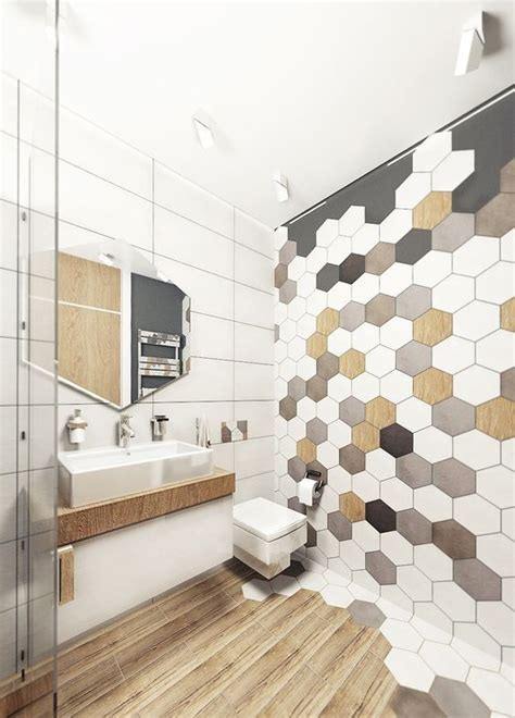 images of bathrooms with tile on the wall 39 stylish hexagon tiles ideas for bathrooms digsdigs
