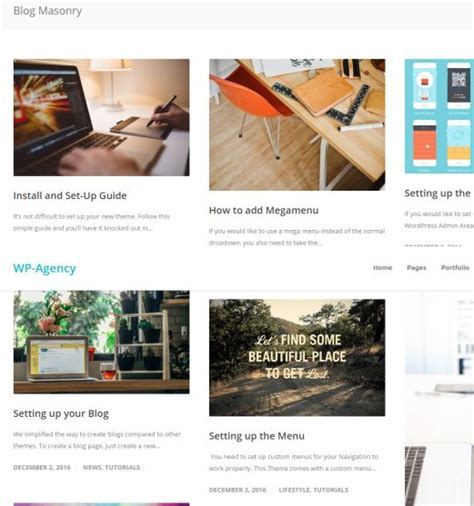 masonry layout wordpress wp agency theme review solostream revealed