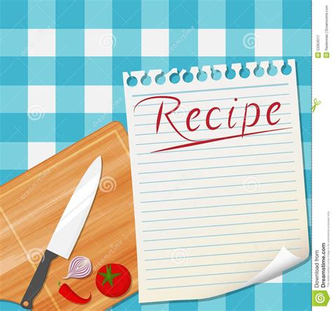 kitchen recipe design background stock vector image