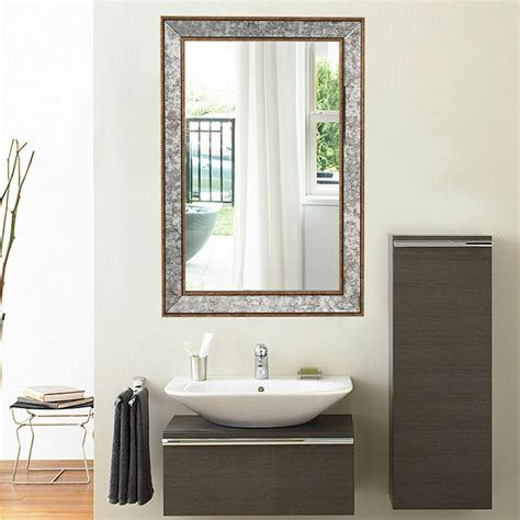 Wall Mirrors Bathroom - 36 quot wall mirror beveled rectangle vanity bathroom