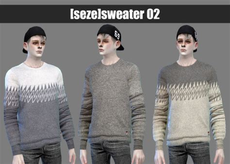 Sweater 02A at Seze » Sims 4 Updates