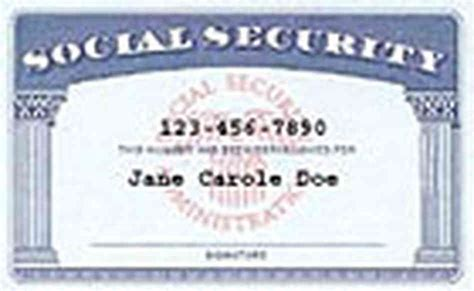 social security card template generator social security card template playbestonlinegames