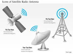 0914 editable images icons of a satellite radio antenna for mobile wireless and satellite dish