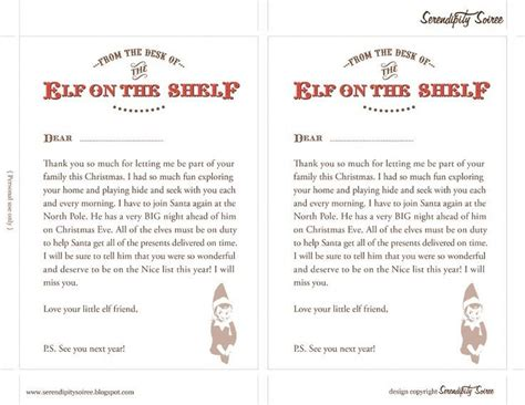 printable elf story elf on the shelf welcome letter elf on the shelf