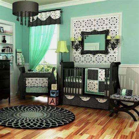 mint green room mint green and black themed baby room knotts babies
