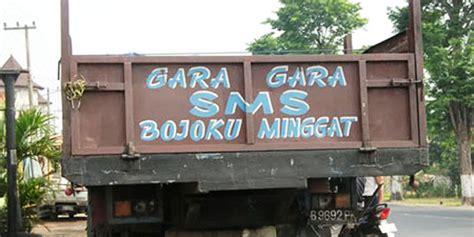 fashion tulisan truk kreatif  bikin tertawa