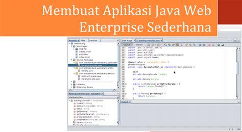 Membuat Aplikasi Java Web Enterprise Sederhana | coding in a fun way e book gratis membuat aplikasi java