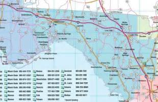 detailed map of west coast of florida central florida road map showing towns cities