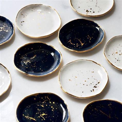 blue and white ceramic l suite one studio gold flecked black blue and white ceramic