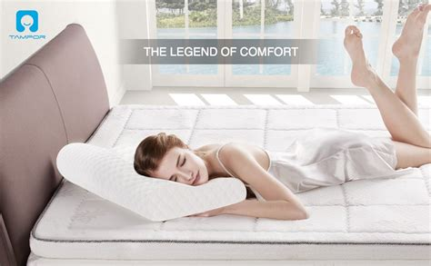 amazon com large foam pillow amazon com memory foam contour pillow hypoallergenic neck