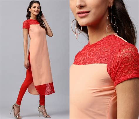 back pattern for kurti 11 simple neck designs for kurtis with laces keep me stylish