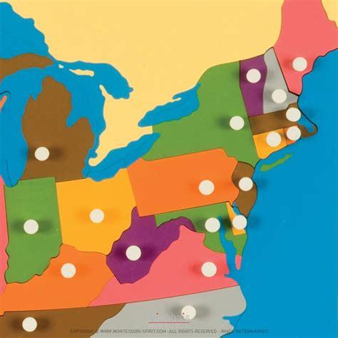 montessori usa puzzle map puzzle map the united states montessori spirit
