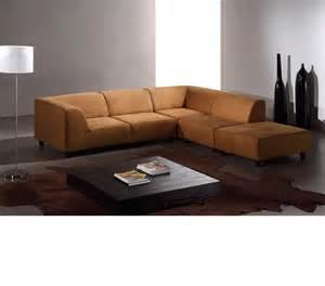 Modern Fabric Sectional Sofas Dreamfurniture Domino Modern Caramel Fabric Sectional Sofa