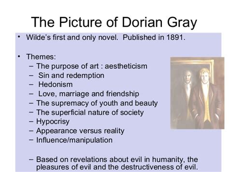 theme quotes from the picture of dorian gray the picture of dorian gray revision
