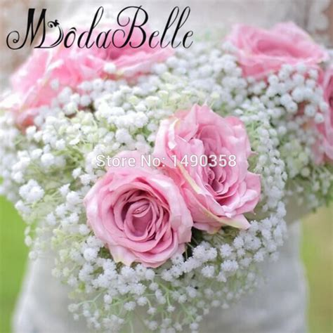 Discount Bridal Bouquets by Get Cheap Bridal Bouquets Pink Aliexpress