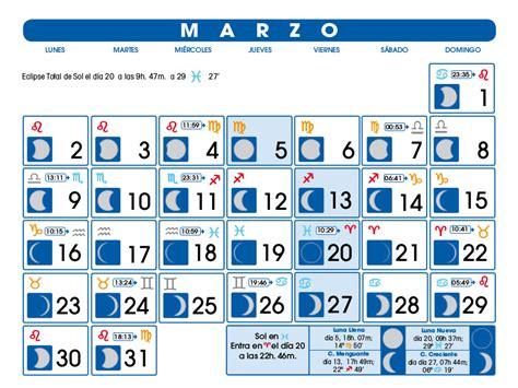 Calendario Lunar 2015 Calendario Lunar Marzo De 2015