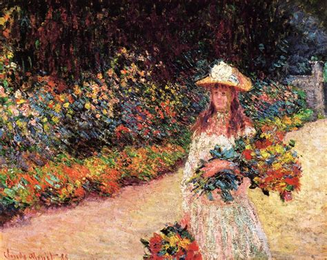 Monet In The Garden by In The Garden At Giverny 1888 Claude Monet