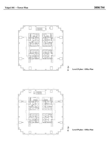 taipei 101 floor plan taipei 101 tower plan level 35 and level 59 archnet
