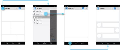 remove blue lining in android application layout stack navigation drawer android developers