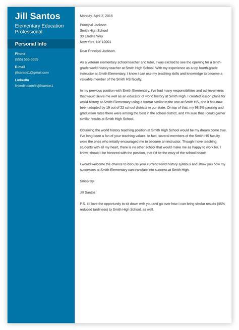 teacher cover letter sample complete writing guide