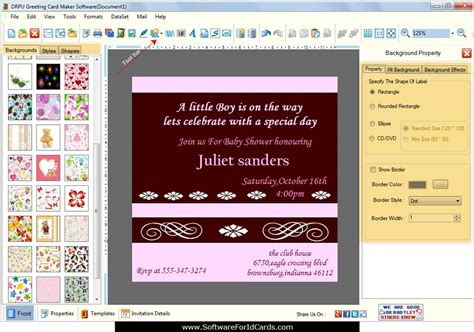 software for card screenshots of greeting cards designing software for how