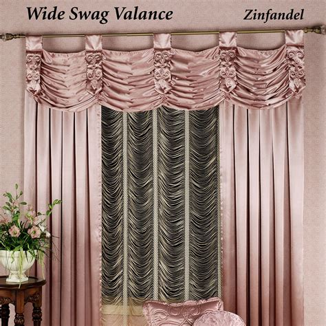 curtains with swag valance paris swag valance window treatment