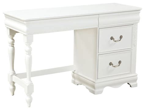 Standard Furniture Jessica 2 Drawer Kids Desk In White White Child Desk