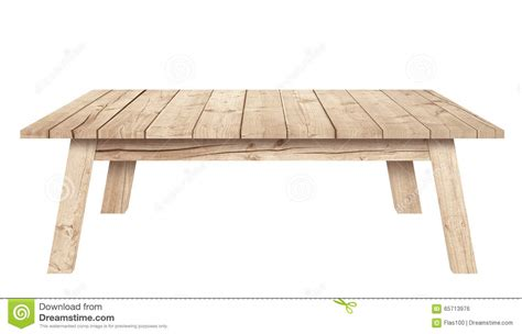 white wooden table l brown wooden table is isolated white background stock