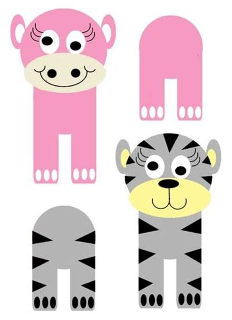 printable animal crafts free printables animals cardboard tube cats printables