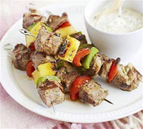 lamb kebabs fruity lamb kebabs with chilli mayo bbc good food