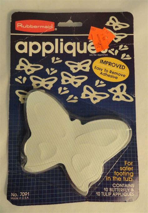 no slip bathtub decals vtg rubbermaid rubber butterfly tulip appliques no slip