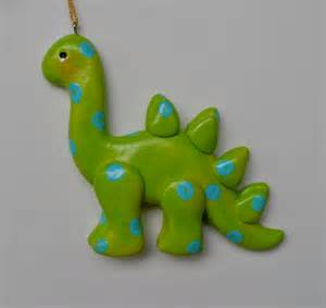 personalized dinosaur christmas ornament by cyndesminis on