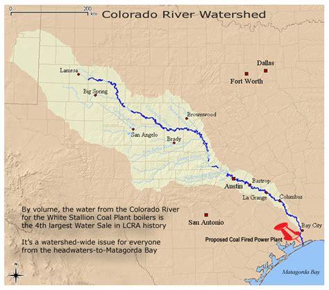 texas to colorado map colorado river texas map