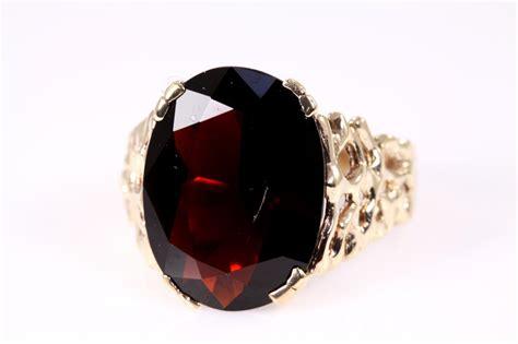 Garnet Ring by 9 00ct Almandine Garnet Ring State Auctions