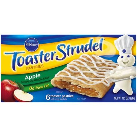 Pillsbury Toaster Strudel Flavors pillsbury apple toaster strudel pastries 11 5 oz 00018000655403
