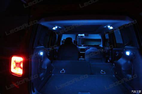 2016 jeep lights 2016 jeep renegade modify cool blue led interior